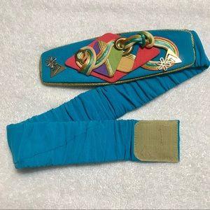 80's/early 90's avant-garde geometric velcro belt
